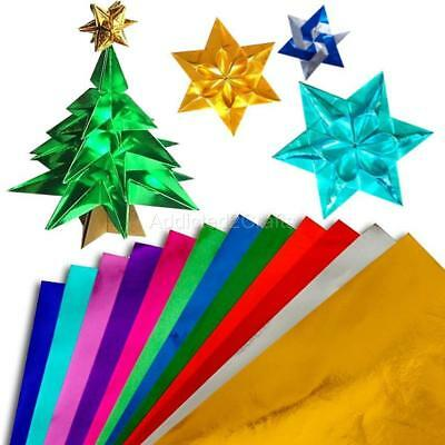 10 colours Metallic Gold Foil JAPANESE ORIGAMI PAPER Chiyogami Fold Craft 15cm