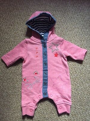 Baby Girls Next Pink Romper - First Size 7.8lbs