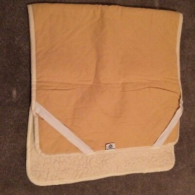 Lovely Natural & Warm 100% Merino Wool Under blanket for cot bed 70cm x 140cm