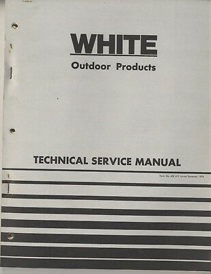 White Outdoor Products Technical Service Manual Lawn & Garden Tractor Mower 1973