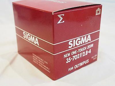 Sigma 35-70mm One-Touch Zoom Lens for Olympus OM Mount with UV Filter