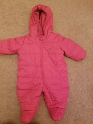 Baby Gap Pink Down Filled One Piece Bunting Size 3-6 Mos