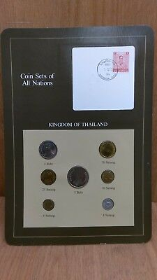 Coin Sets of All Nations Thailand 1957-1982 UNC Red Stamp 2 Baht