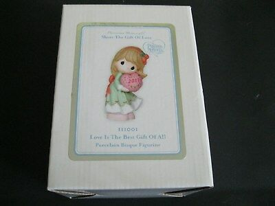 Precious Moments Figurine - Love is The Best Gift of All - #111001  Girl - New