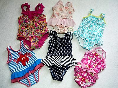 Baby Girls Swimming Costumes Integrated Swim Nappy + BNWT 0-3-6 9-12 18-24 m