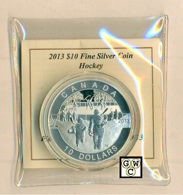 2013 'Hockey - O Canada' Proof $10 Silver Coin .9999 Fine (NT) (13126) (OOAK)