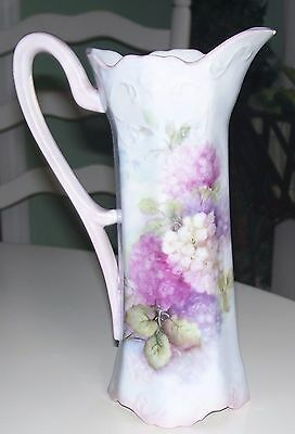 "Lovely Hand Painted 9"" X 6"" Pitcher"