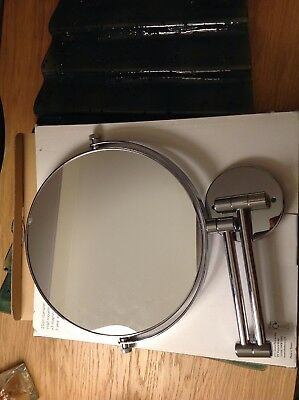 JOHN LEWIS 25cm extending wall mountable  MIRROR - Chrome plated3x MAGNIFICATION