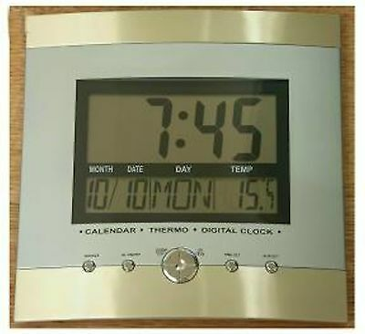 Large Digital Lcd Wall Clock
