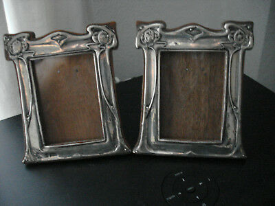 Exquisite Original Art Nouveau  Matching Pair  Of Silver Photo Frames