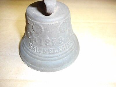 """VINTAGE BRASS SHIP'S or """"LAST ORDERS"""" HAND BELL + BRACKET for IN or OUTDOOR USE"""