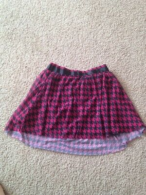 Girls Size 7-8 Pink And Black Skirt Combine Shipping