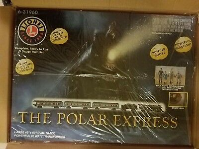 LIONEL 6-31960 The Polar Express Train Set Sealed Box O-Scale Cars and Track NEW