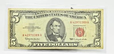 **Highly Collectable Untited States of America 1963 Red Seal $5 Dollar Bill**