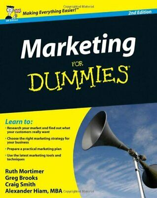 Marketing For Dummies (UK Edition) by Hiam, Alexander Paperback Book The Cheap