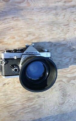 Vintage Olympus  OM-2n camera body untested & 50mm om-system zuiko 1:1.8 lens