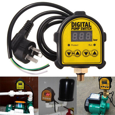 Auto Digital Pressure Controller ON OFF Switch 220V For Water Air Gas Pump Set