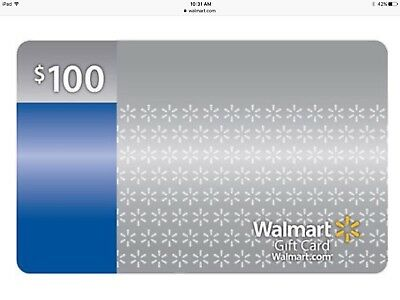 Walmart $100 Gift Card Use in Store or Online $100 US Dollars