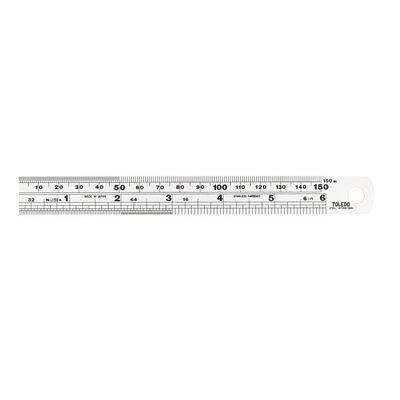 150mm 150MSE TOLEDO Stainless Steel Double Sided Rule Metric