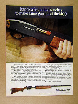 1968 Winchester Model 1400 Mark II Shotgun gun photo vintage print Ad