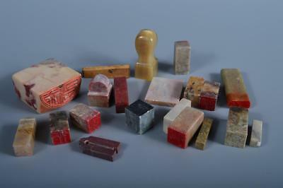 J6870: Chinese Stone Chop stamp material SEALS Bundle sale Calligraphy tool.