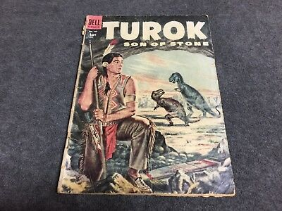 Four Color 596 first Turok Son of Stone 1954