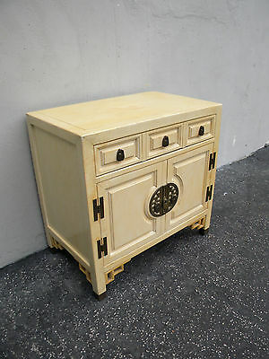 Hollywood Regency MCM Distressed Nightstand / End Table by Century 5060