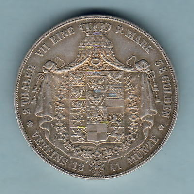 Germany - Prussia.  1841-A 2 Thalers.. Part Lustre..  gVF
