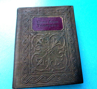 """Antique Miniature Poetry Book,""""gems From Tennison"""""""