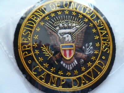 usa police /secret service bullion prez camp david badge ex cond