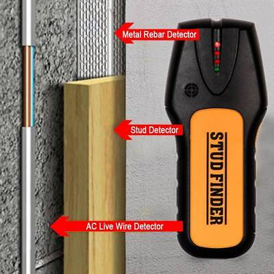 3-in-1 Handheld Metal Detector Stud Finder Super PDR Wood Electric Cable Wire