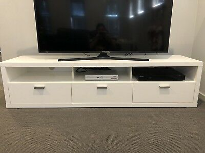 White High Gloss TV Unit Purchased At MYER