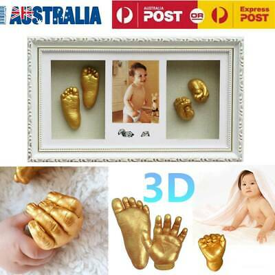 Baby Hand Foot Casting Kit DIY 3D Unique Keepsake Photo Frame 100% Safe Alginate