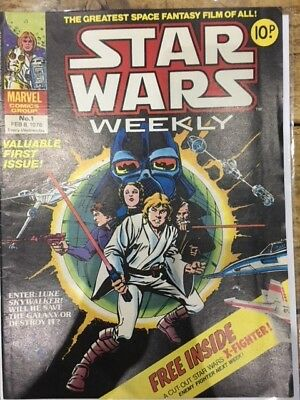 Star Wars weekly No 1 (1978) Excellent Condition - comes with free pull-out
