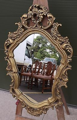 Lovely Decorative Gilt-Framed Mirror In The Antique Rococo Style