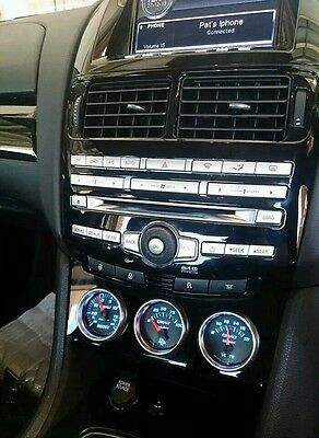 Fgx Falcon XR6 Turbo XR8 triple Gauge and Accessory Holder 52mm  Stingray