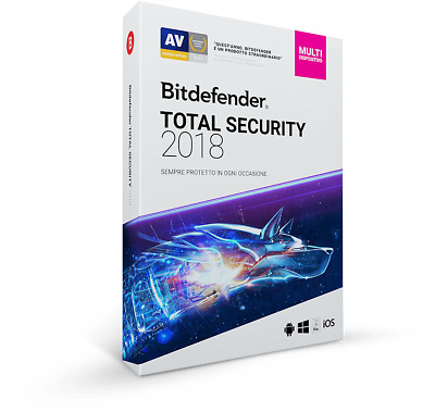 Bitdefender Total Security 2018 Mult-Device  1 ANNO  5 DISPOSITIVI