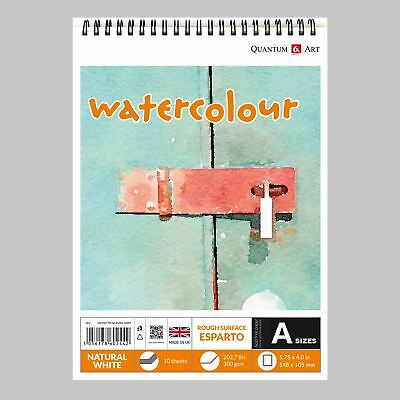 Watercolour ESPARTO Surface Pad Drawing Artist Paper on Spiral Book - 300gsm