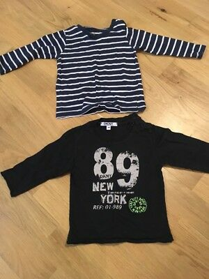 baby boy tops dkny and h&m size 6 9 months designer
