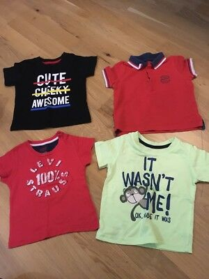 baby boy t shirt tops size  12-18 months levis primark mothercare