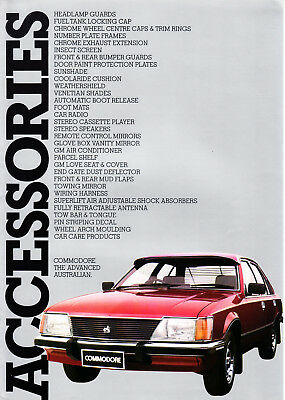 Car Brochure - Holden VH Commodore Accessories