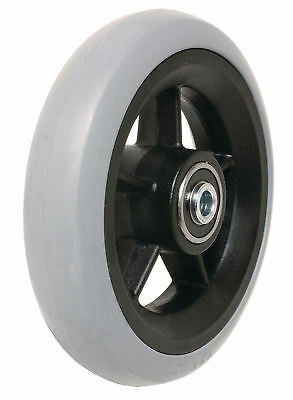 Wheelchair Mbl Castors Black Plastic Hub And Grey Tyre (Pair)
