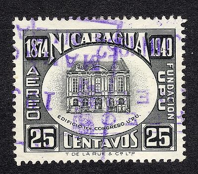1950 Nicaragua 25c UPU Offices Berne SG 1154 FINE USED R19817