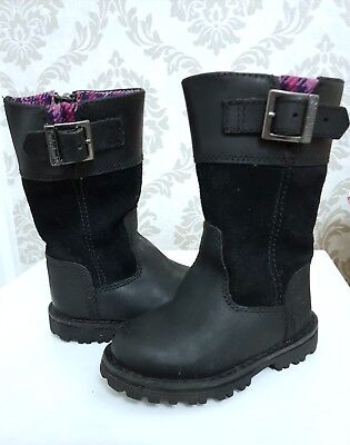 Girls infant Timberland long black boots size 4