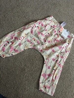 Next Baby Girls Flamingo Print Hareem Trousers 9-12 Months