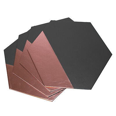 Set of Placemats Dining Table Place Settings Mats Grey & Copper Faux Leather