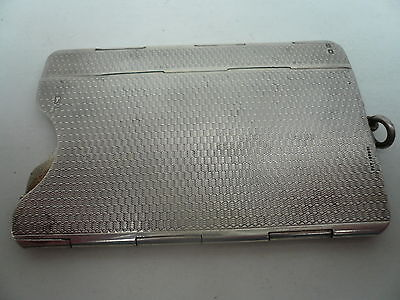 Collapsibe Silver Cigarette Packet Holder Case, Sterling, English, HM 1920