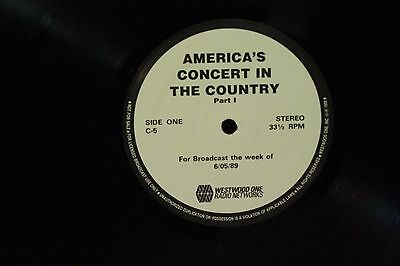 lot 3 vtg lps America's Concert in the Country rare Westwood One Radio Networks
