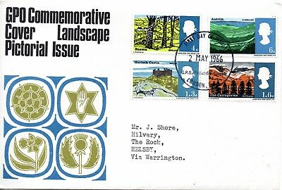 1966 Sg 689/92 Landscapes First Day Cover GPO Philatelic Bureau London Cancel