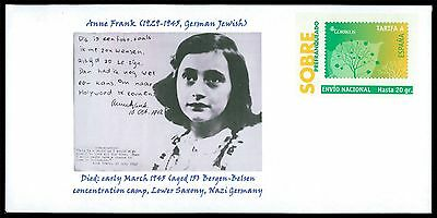 SPAIN PRIVAT-GA GANZSACHE ANNE FRANK JUDAICA JEWISH ANTI-FASCISM RARE!! cd20